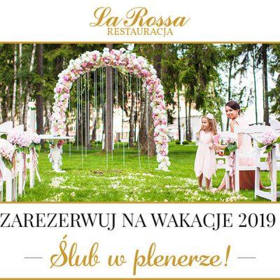 Ślub w plenerze – rezerwacje na wakacje 2019