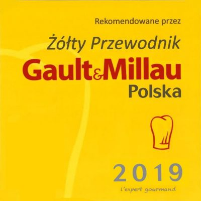 """PO RAZ KOLEJNY JESTEŚMY W ŻÓŁTYM PRZEWODNIKU """"GAULT & MILLAU"""" – 2019 – MAMY CZAPKĘ !!!"""