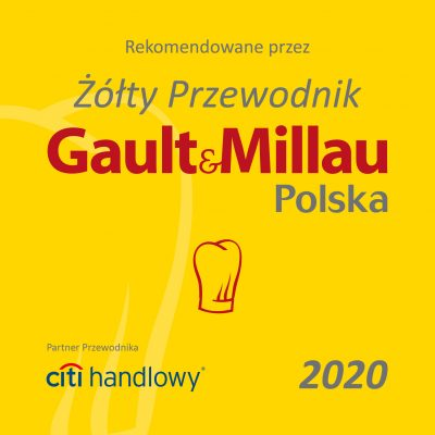 "THIRD YEAR IN A ROW WE ARE IN THE YELLOW GUIDE ""GAULT & MILLAU"" – 2020 – WE HAVE A HAT !!!"